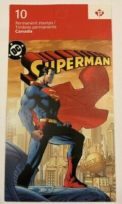 """Canada Stamp Superman #204, Booklet Bk558, Mint-NH - #2683aiii - 10 """"P"""" Stamps"""
