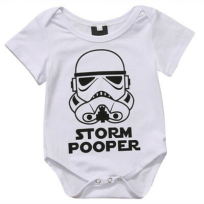 Tops Newborn Baby Boy Girl Star Wars Romper Bodysuit Cotton Short Sleeve Shirt