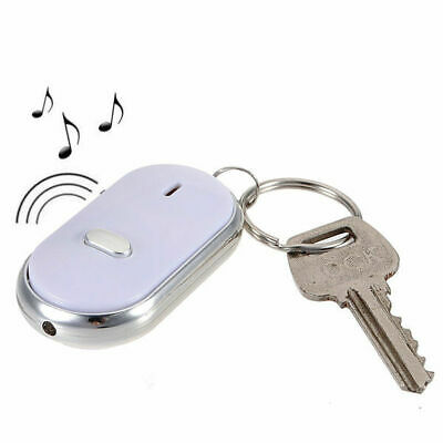 Neu LED Key Finder SchlüelanhänrLocator Sound Control Whistle Weiß Supply Nett