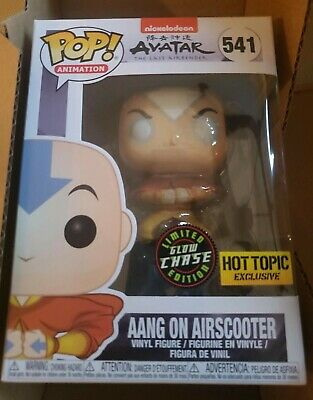 Funko Pop Avatar The Last Airbender Aang on Airscooter GITD Chase Hot Topic #541