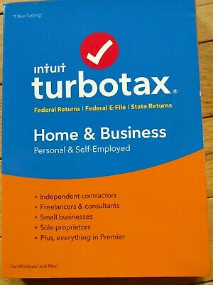 Turbotax Intuit HOME & BUSINESS 2018 NEW SEALED!!! Fed+State E-File, Windows/Mac