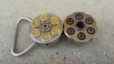 Handmade Genuine Smith and Wesson Revolver belt buckle .357 Magnum STAINLESS