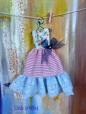 BLYTHE or Pullip DOLL Dress - OOAK -  Hand embroidery with silk