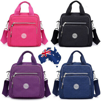 Womens Ladies Waterproof Nylon Backpack Rucksack Handbag Travel Shoulder Bag AUS