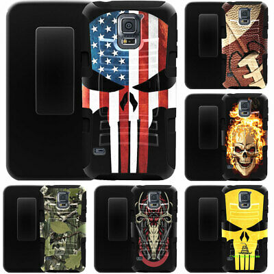For Samsung Galaxy Amp Prime 3 / J3 Achieve Case Holster Clip Kickstand Cover