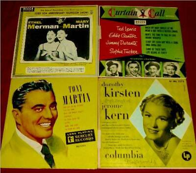 """10"""" LP CLOSE-OUT!  4 RARE 1950s RECORDS FOR $20"""