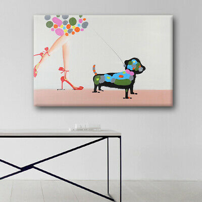 House Decoration Modern Abstract Oil Painting On Canvas Handmade Framed Dog