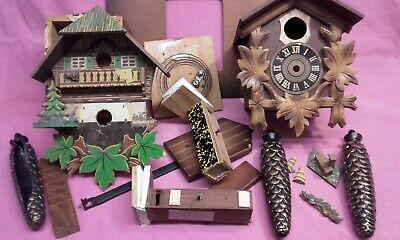 cuckoo clock parts cuckoo for spares or repair including plastic weights Kaiser