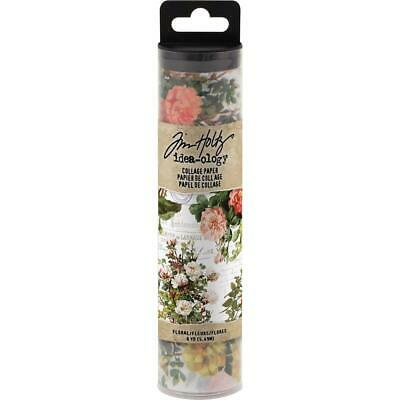 Tim Holtz Idea-Ology Collage Paper - Floral - 6yd Roll
