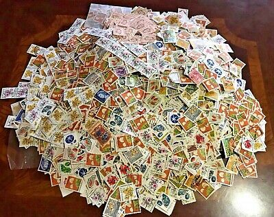 A Box Of Australian Decimal Stamps Off Paper. (about 600g) 1000s of stamps