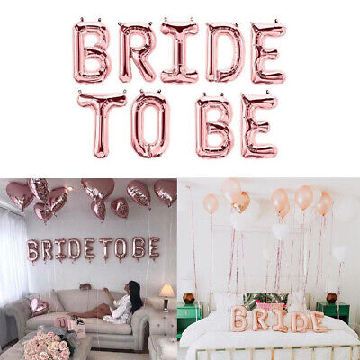Team Bride To Be Hen Party Night Rose Gold Ballons Supplies Sashes Decoration DA