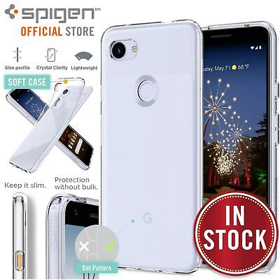 Pixel 3a/XL Case, Genuine SPIGEN Ultra Slim Liquid Crystal Soft Cover for Google