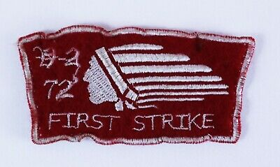 First Strike US Military Air Force 1972 Indian Chief Patch Embroidered Cloth
