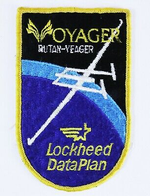 VOYAGER RUTAN VEAGER Lockheed DataPlan Patch US Military Air Force Embroidered