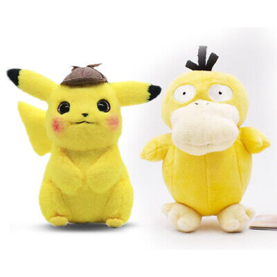 Presale 2019 Pokemon Center Movie Detective Pikachu Psyduck Soft Plush Figure