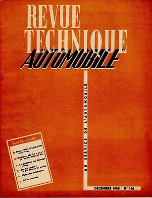 Revue Technique Automobile N°116 Decembre 1955 Volkswagen Tous Types