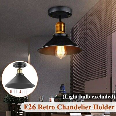 Vintage Industrial Chandeliers Hanging Ceiling Light Pendant Lamp Shade Fixture