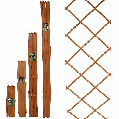 6Ft Expanding Wooden Trellis Fence Panel Climbing Plants Garden Flowers Growing