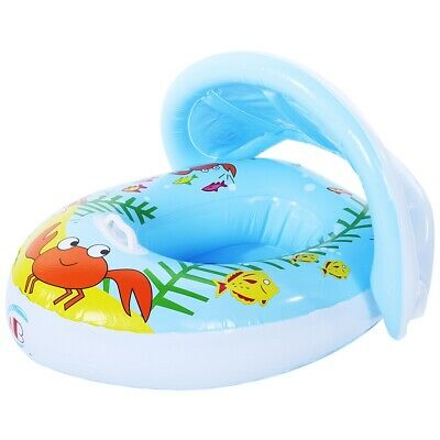 Cute Mother and Baby Summer Inflatable Swimming Seat with Removable Canopy SP