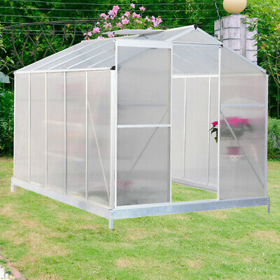 OUTSUNNY 6X4FT WALK-IN Polycarbonate Greenhouse Plant Grow