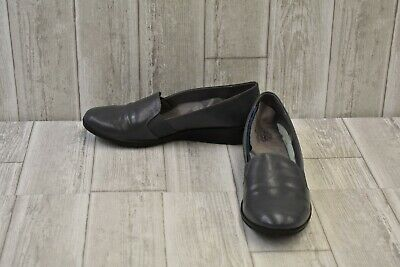 **LifeStride Isabelle Wedge Loafers - Women's Size 11 W - Grey DAMAGED