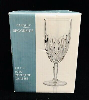Marquis by Waterford Brookside Iced Beverage Glasses, Set of 4 - New in Box