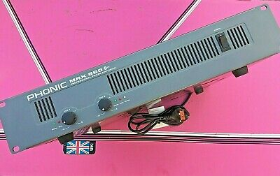 """Phonic max 860+ 19"""" stereo  pro power amplifier (used) rack mountable"""