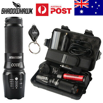 20000lm Shadowhawk  X800 Tactical Military Flashlight L2 LED Torch Work Light