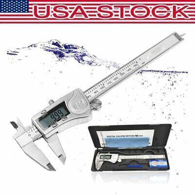USA Digital Electronic Caliper  6inch Stainless Steel Micrometer Measuring Tool