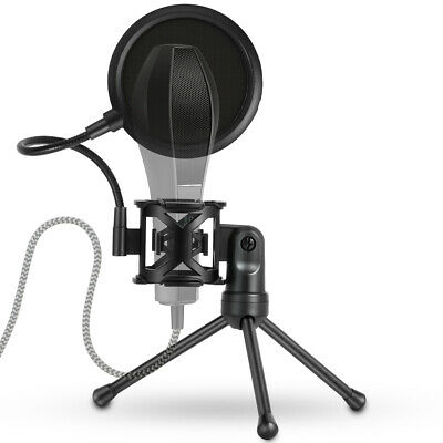 Portable Microphone Tripod Stand Mic Holder with Wind Shield Pop Filter TH1132