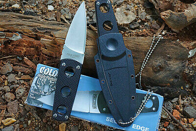 Cold Steel Secret Edge Pocket Knife Straight Blade Camping Survival Outdoors