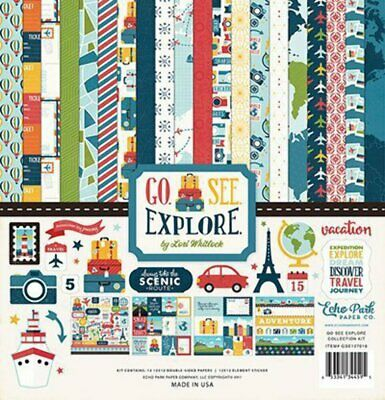 ECHO PARK - Go, See, Explore - 12x12 Scrapbook Collection Kit