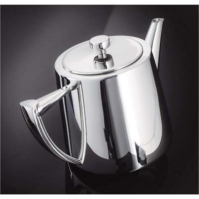 Stellar Art Deco SC54 Stainless Steel Traditional Teapot 1.2L 6 Cup Gift Box