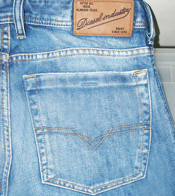 *HOT! AUTHENTIC Men DIESEL @ ZATHAN Art 8AR BOOTCUT DISTRESS Denim Jeans 30 x 32