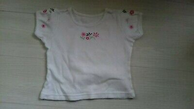 Girls Mothercare 3-4 Years White Frilly Flower Top Mint Condition