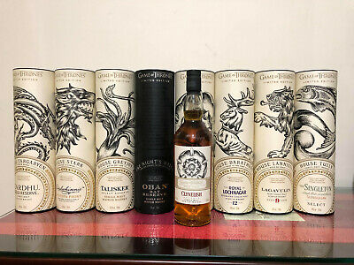 Game of Thrones Scotch Whisky Full Set with Clynelish Reserve 8 Bottles Set