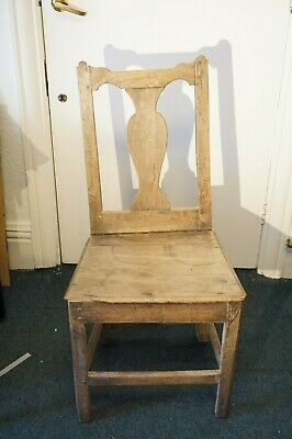18th Century Solid Oak Chair for Restoration