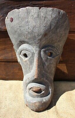 Antique Carved Wooden Mask from Jaipur District of Nepal. Circa 1920.