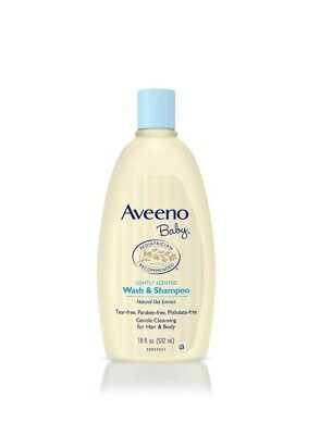 Aveeno Baby Gentle Wash & Shampoo Natural Oat Extract Tear-Free lightly scented