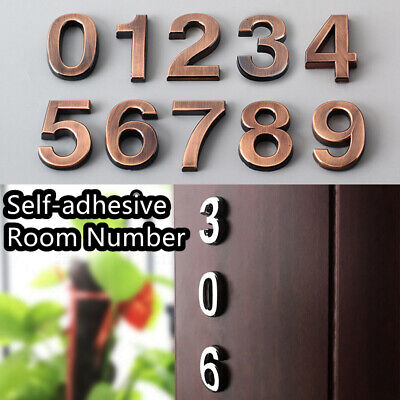 Self-adhesive ABS Plastic Digits Sticker Door Plates Address Sign Room Number