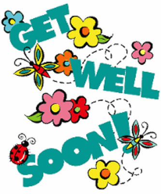 """48 FEEL BETTER SOON GET WELL SOON ENVELOPE SEALS LABELS STICKERS 1.2/"""" ROUND"""