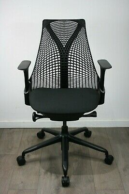 UK & EU DELIVERY | Herman Miller Sayl chairs | Fully Loaded | Immaculate Black