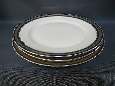 Lot 3 Antiguos Grande Platos Tarta Pastel Porcelana Sajonia French Antiguo