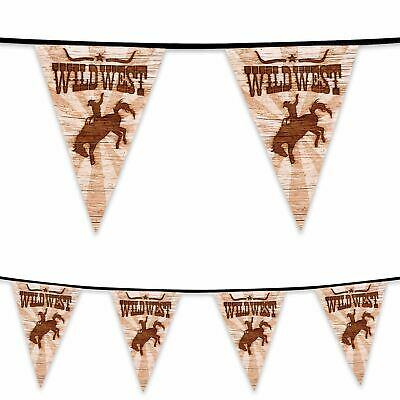 3.65m Long Wild West Western Bunting Banner Cowboy Rodeo Howdy Party Decoration