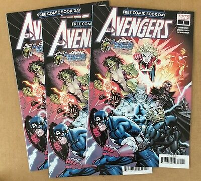 3 free comic book day issues The Avengers 2019 FCBD Marvel - excellent unstamped