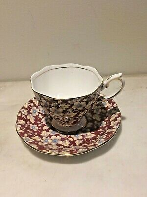 Vintage Royal Albert Wine Chintz Cup and Saucer Rare
