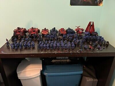 Warhammer 40k Massive space marine army/collection assorted chapters