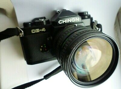 Chinon CE-4 35mm manual SLR with 35-70mm Pentax K fast f2.8 lens. Tested VGC