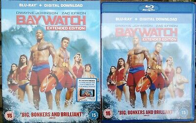 Baywatch (Blu-Ray, 2017) Extended Edition With Slipcover