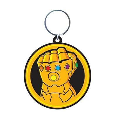 Genuine Marvel Comics Avengers Infinity War Gauntlet Rubber Keyring Fob Thanos